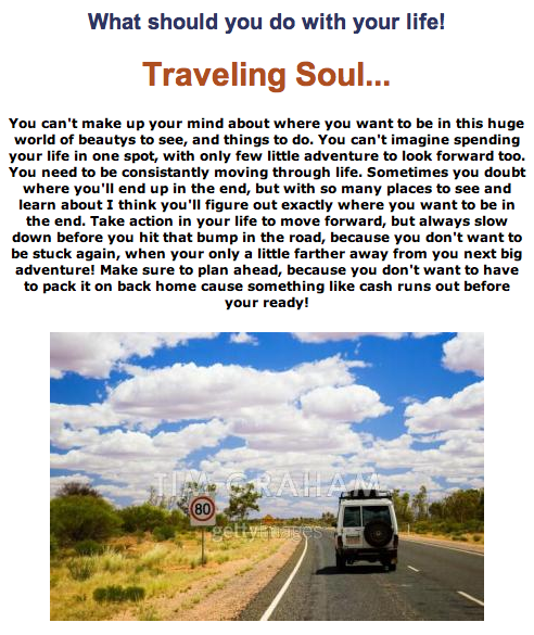 "A ""Traveling Soul""?"