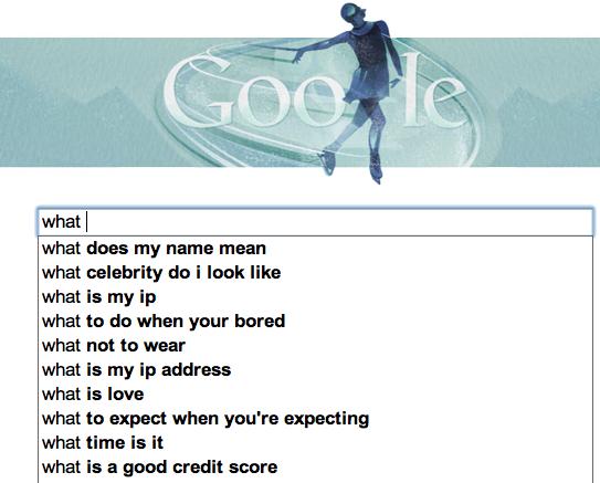 Asking Google What