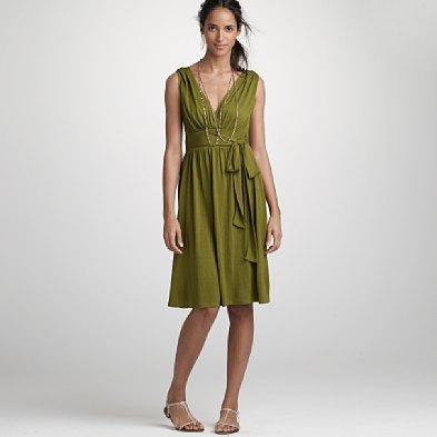 Green V-Neck Sundress