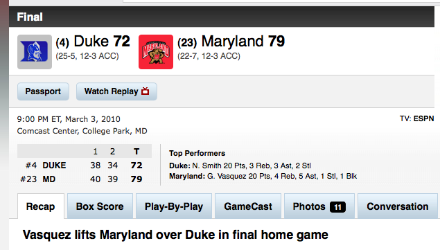Maryland Wins!!!